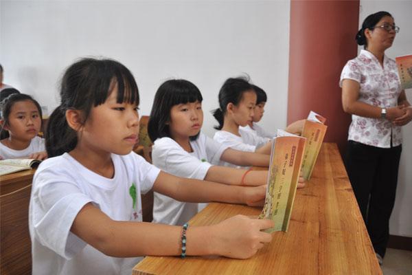 广州紫阳书院夏令营普及国学,悦读经典